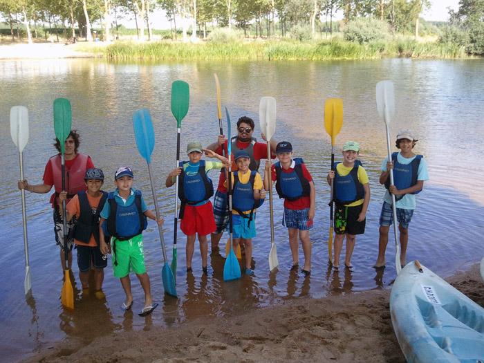 Piragua en campamentos de verano Salamanca