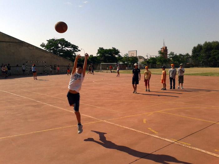 Baloncesto en campamento Salamanca