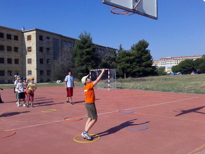 Baloncesto en Campamento de salamanca