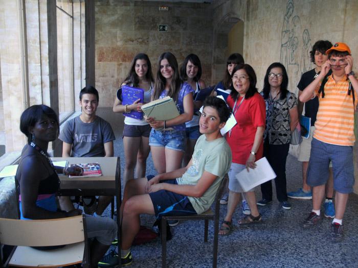 Grupo clase curso intensivo inglés Salamanca