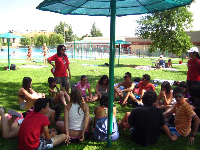 Piscina en campamento de Salamanca