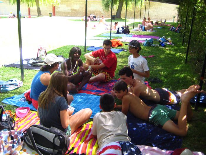 Piscina en campamentos de verano
