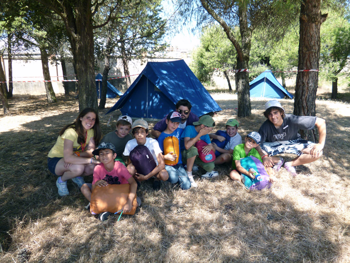 Acampada en campamentos
