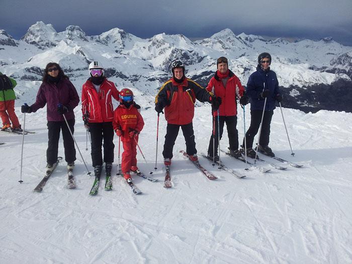 Curso de ski Reyes Astún 2014. Aprender a esquiar en familia