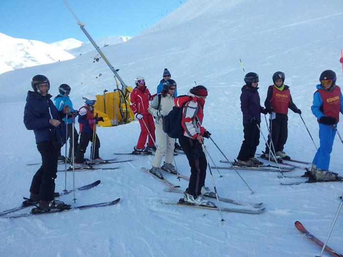 Cursillo de ski Reyes Astún 2014. Clases de esquí