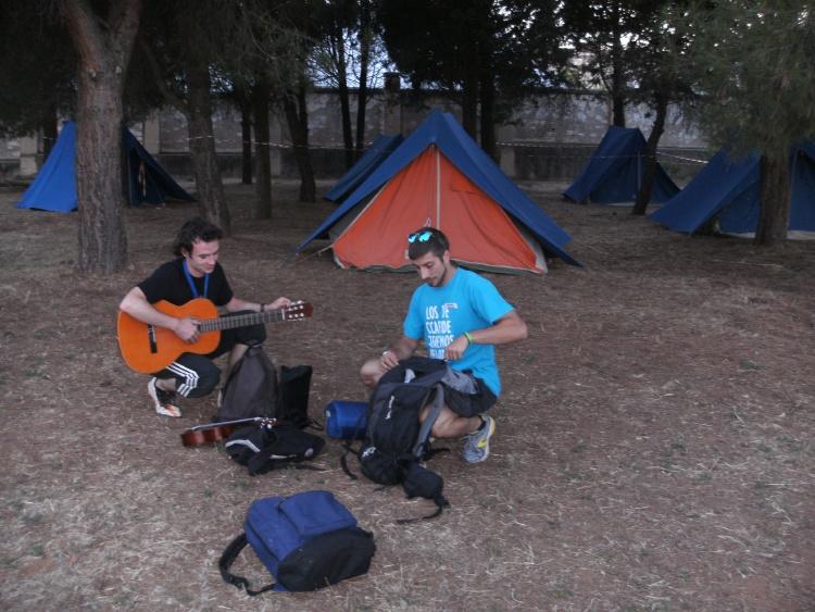 Acampada en campamentos de verano