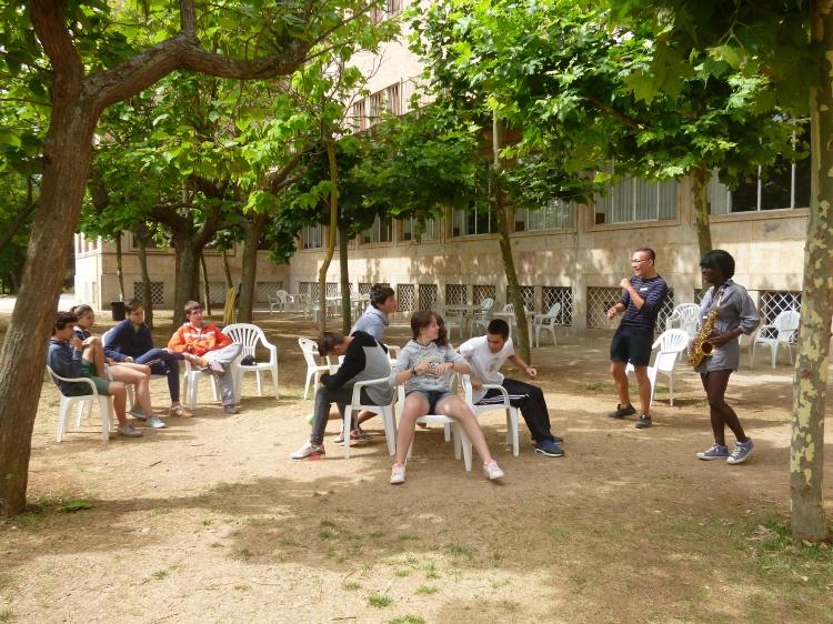 Juegos y pruebas en el campamento Salamanca 2014