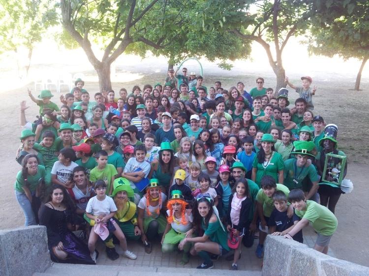 Día temático Irlanda en campamento de Salamanca