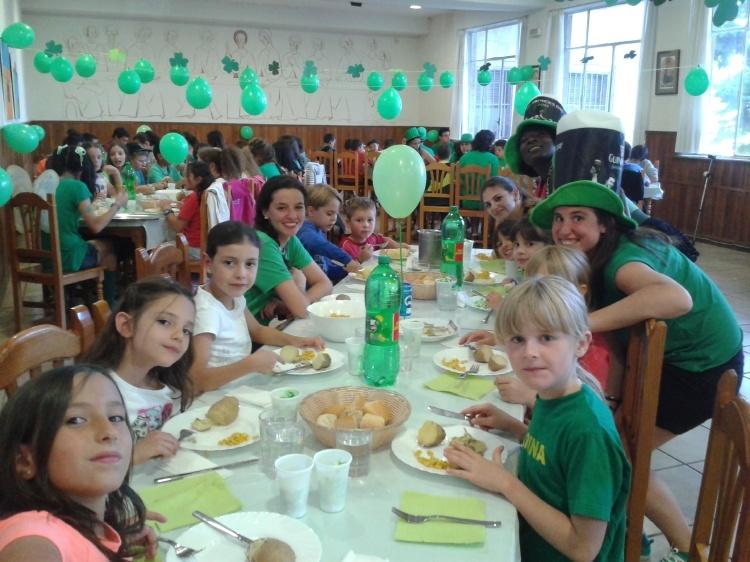 Día temático Irlanda en campamento Salamanca
