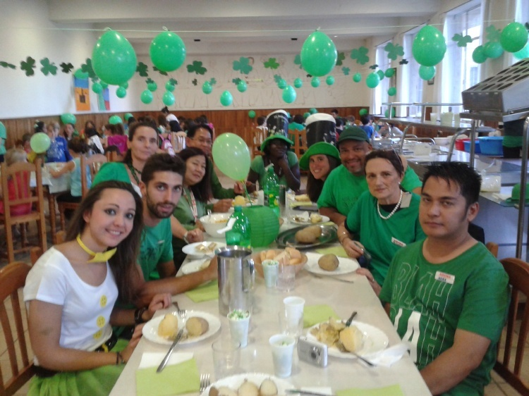 Dia temático Irlanda en el campamento de Salamanca