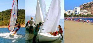 actividades acuáticas en campamento náutico de playa