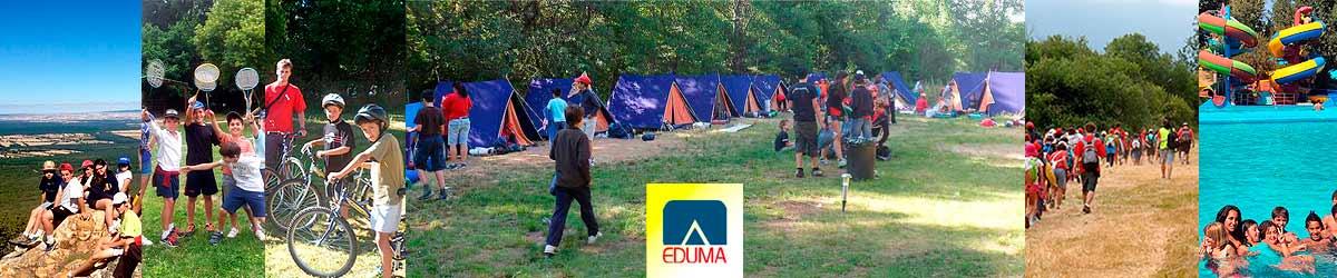 Campamento de verano en Segovia, Riaza, España. Tiendas. Barato.