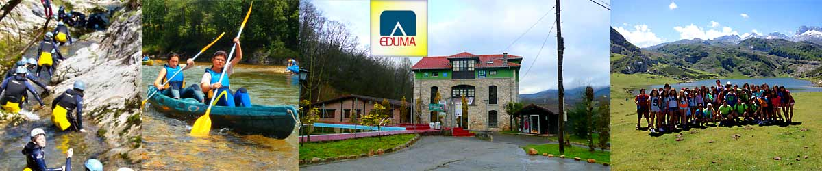 Campamento multiaventura en Asturias, España, Picos de Europa. Campamento de verano.