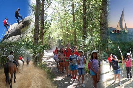 Diferentes campamentos de verano para niños y jóvenes. De todo tipo, modalidades y formatos.