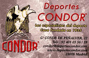 Deportes Condor. Descuentos para socios de Eduma.