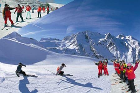 Cursos de esqui para colegios y grupos