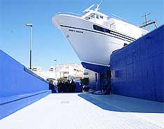 Museo del mar en Águilas. Murcia. Colonia nautica y campamento de playa en verano. Julio y agosto.