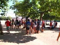 Instalaciones exteriores en el Campamento de verano con inglés y francés en Salamanca.