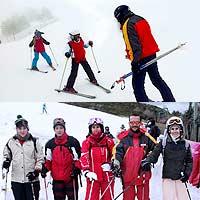 Curso de esquí de sábados en La Pinilla o Valdesquí. Niños, jóvenes y adultos.