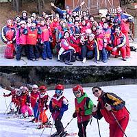 Curso de esquí para niños los días sin cole. Vacaciones escolares. Semana Blanca en la nieve.