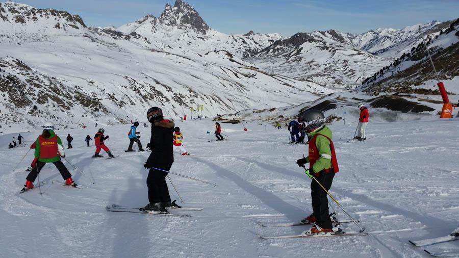 Curso de esquí en Reyes Astún 2014
