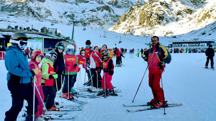 Curso de esquí en Formigal, Reyes 2015. Diversión en la nieve