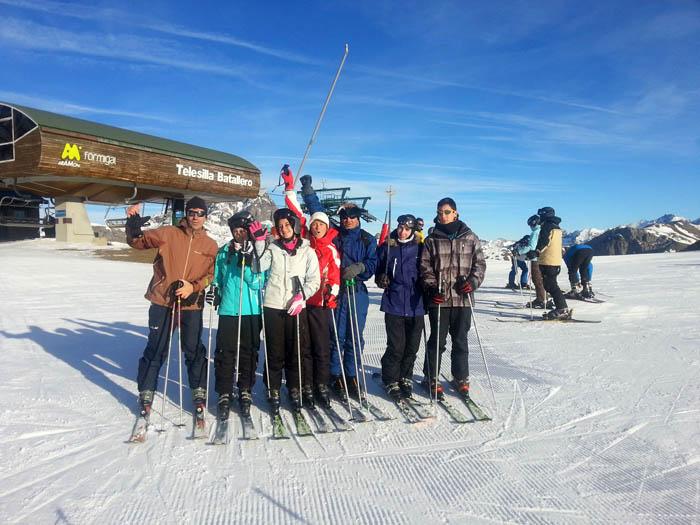 Curso de ski en Formigal, Reyes 2015. Clases de esquí adultos