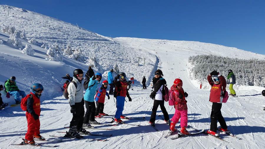 Cursillo ski sábados 2015. Primeras clases de esquí en La Pinilla