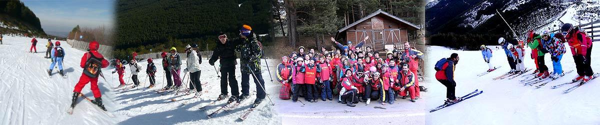 Curso de esqui para nñios y familias en La Pinilla o Valdesquí. Ski