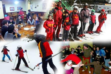 Curso de esqui para niños y famlias en La Pinilla o Valdesquí. Vacaciones escolares. Ski