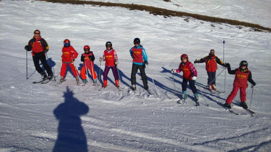 Reyes 2015. Clases de esquí infantil.