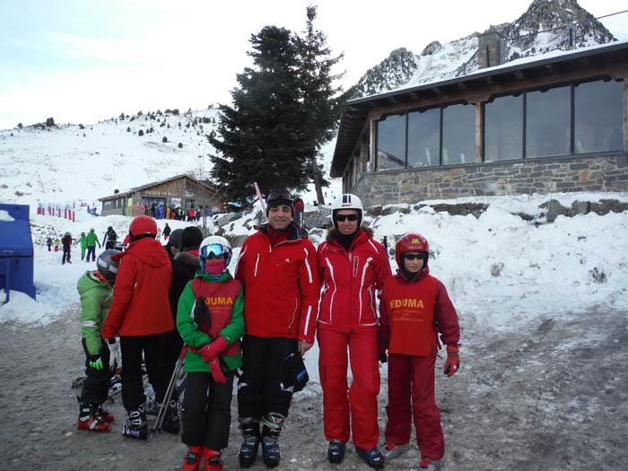 Curso de ski en Formigal, Reyes 2015. Aprender a esquiar en familia
