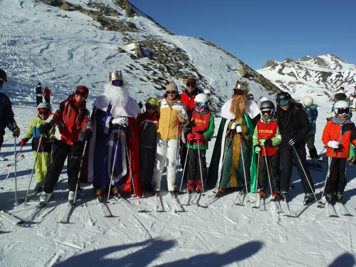 Reyes 2015. Esquiando con los Reyes Magos