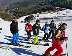 Curso de esquí sabados en la Pinilla o Valdesqui. Clases ski.