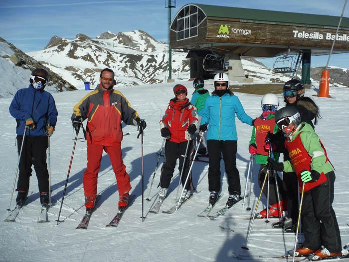 Clases de esqui juvenil y adultos