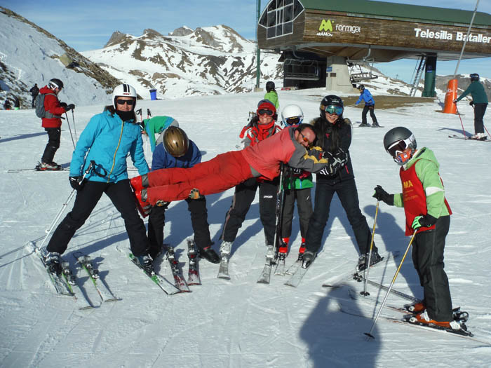 Cursillo de ski en Formigal, Reyes 2015. Diversión en la nieve