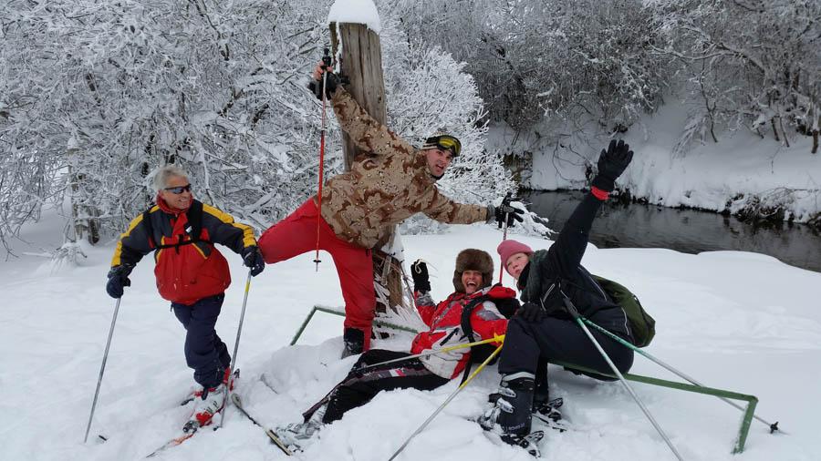 Curso ski sábados 2015. Jugando en la nieve