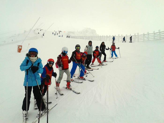 """Curso ski sábados 2015. Esquiando en la pista """"el Retorno"""""""