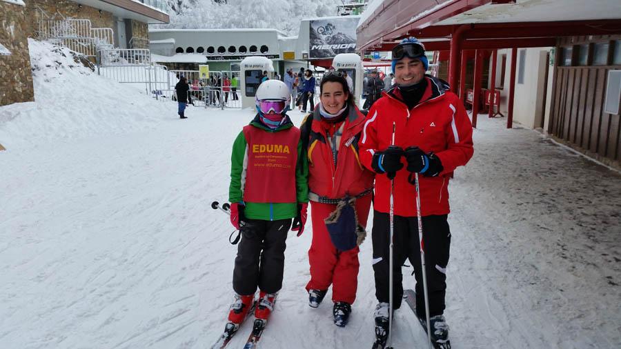 Curso ski sábados 2015. Terminando el día de esquí.