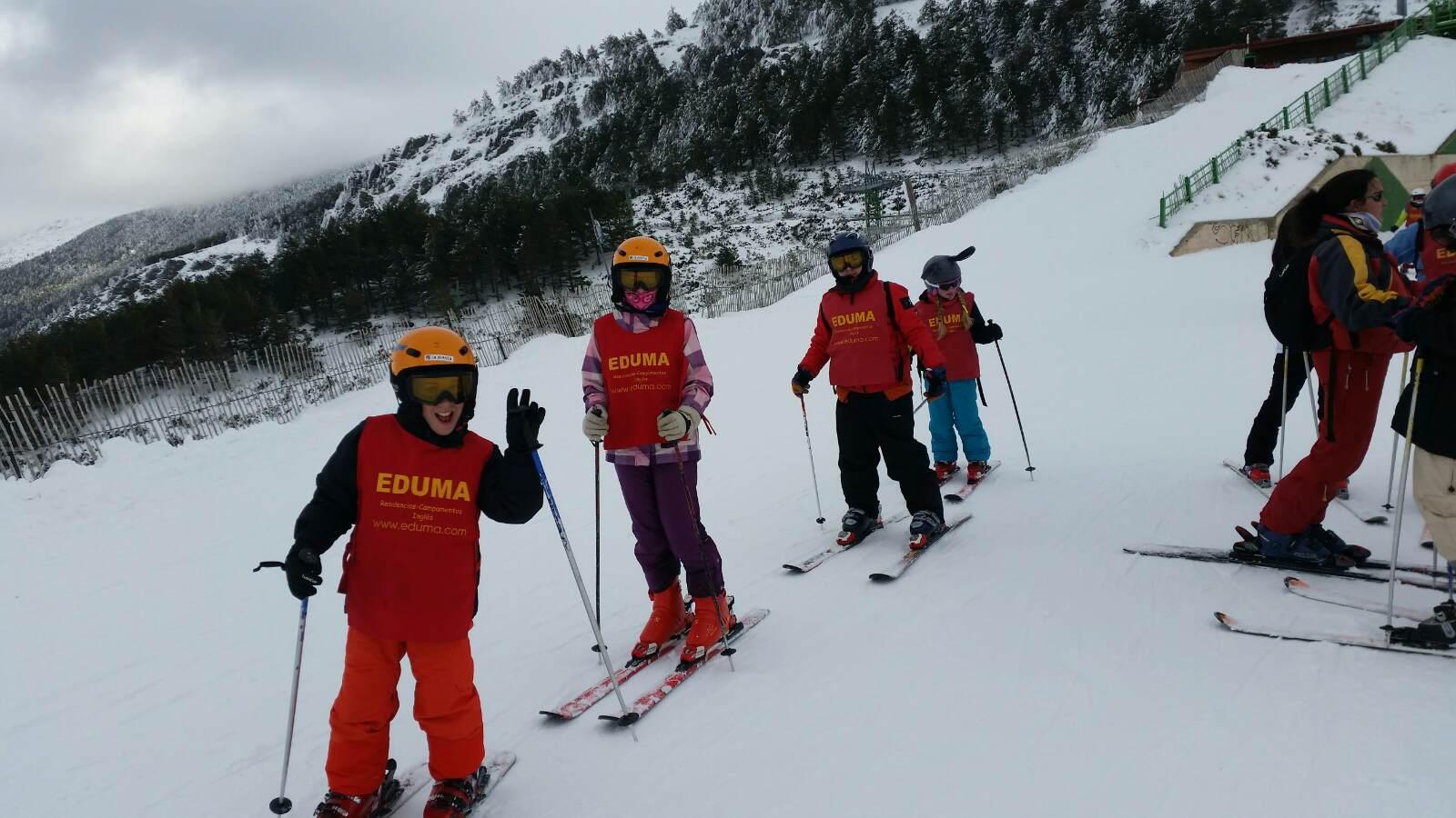 Vacaciones Escolares 2015. Curso de ski. Clases de esquí grupo a