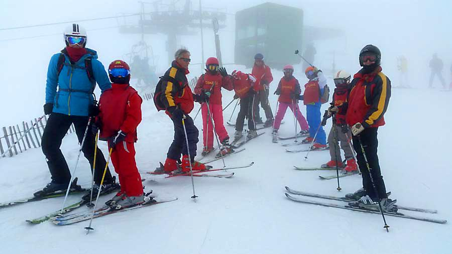 Curso ski sábados 2015. 7 Marzo esquiando