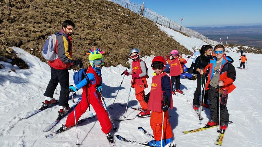 Curso ski sábados 2015. Grupo Félix en pistas