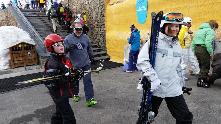 curso esqui organizado familias
