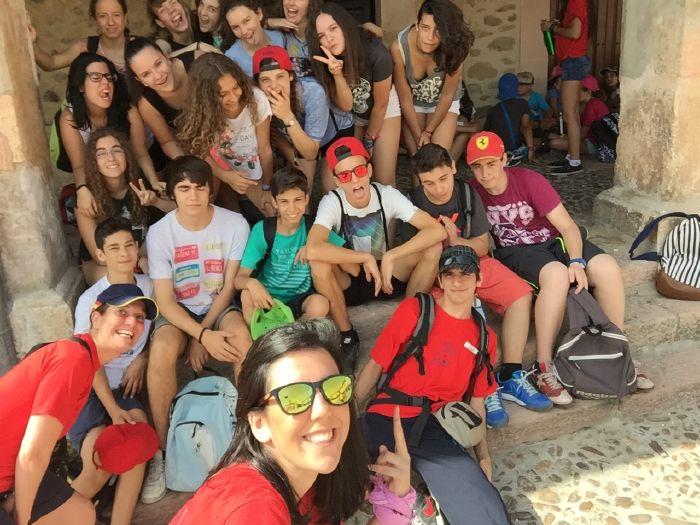 Grupo niños visita a Riaza