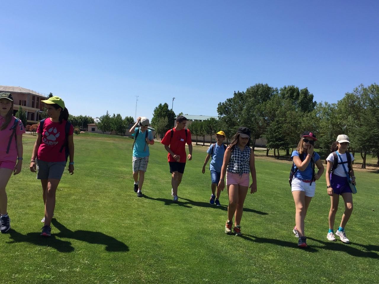 Grupo niños golf