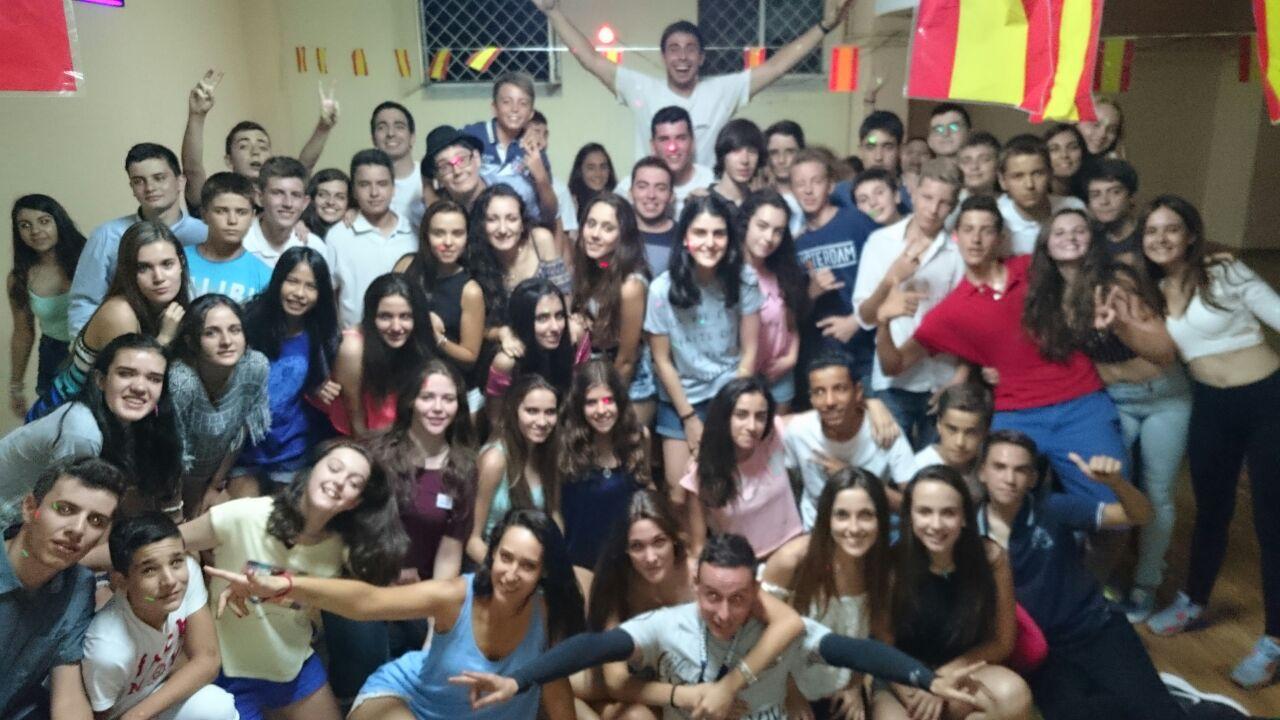 Grupo de niños en campamento Salamanca