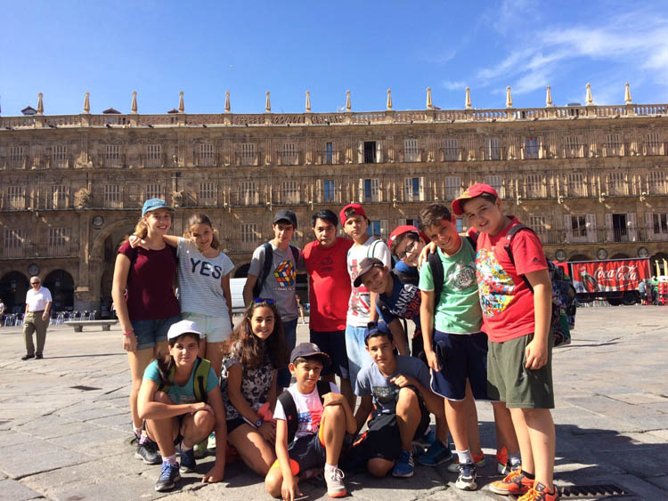 Colonia de verano con ingles visita Salamanca