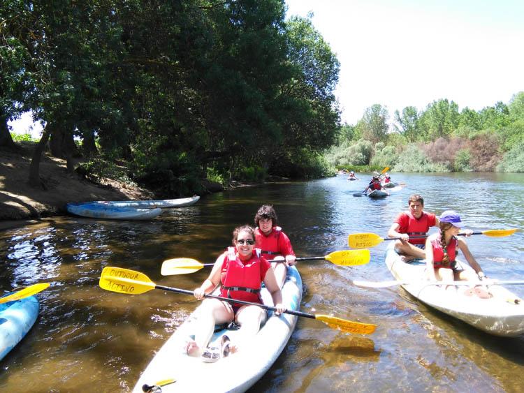 Piragua en el Rio Tormes. Salamancav