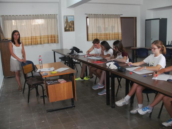 Grupo en el curso intensivo de inglés en Salamanca. Campamento verano julio