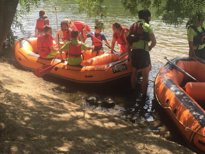 Rafting niños curso intensivo